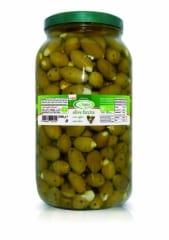 Bio Olives Farcies A L'Ail Sous Huile
