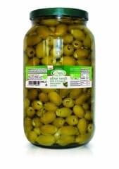 Bio olives vertes dénoyautées sous huile