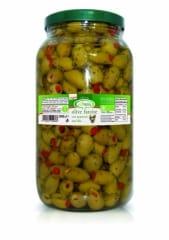 BIO Olives Farcies Aux Poivrons Doux Sous Huile
