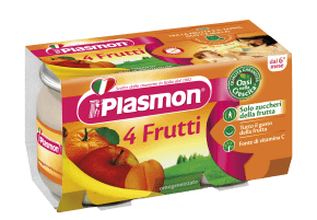 plasmon omogeneizzati 4 Fruits